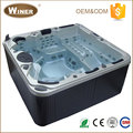 European style Indoor outdoor freestanding 5 people whirlpool massage acrylic balboa hydro hot spring spa portable hot tub