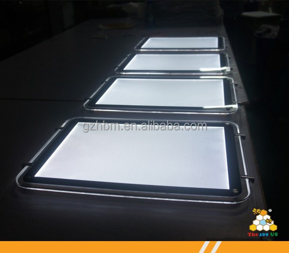 round corner ceiling hanging LED crystal light box for window display