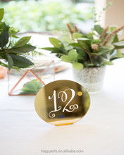 Wedding Decor Table Centerpieces Table number Holder Gold Acrylic Table Numbers