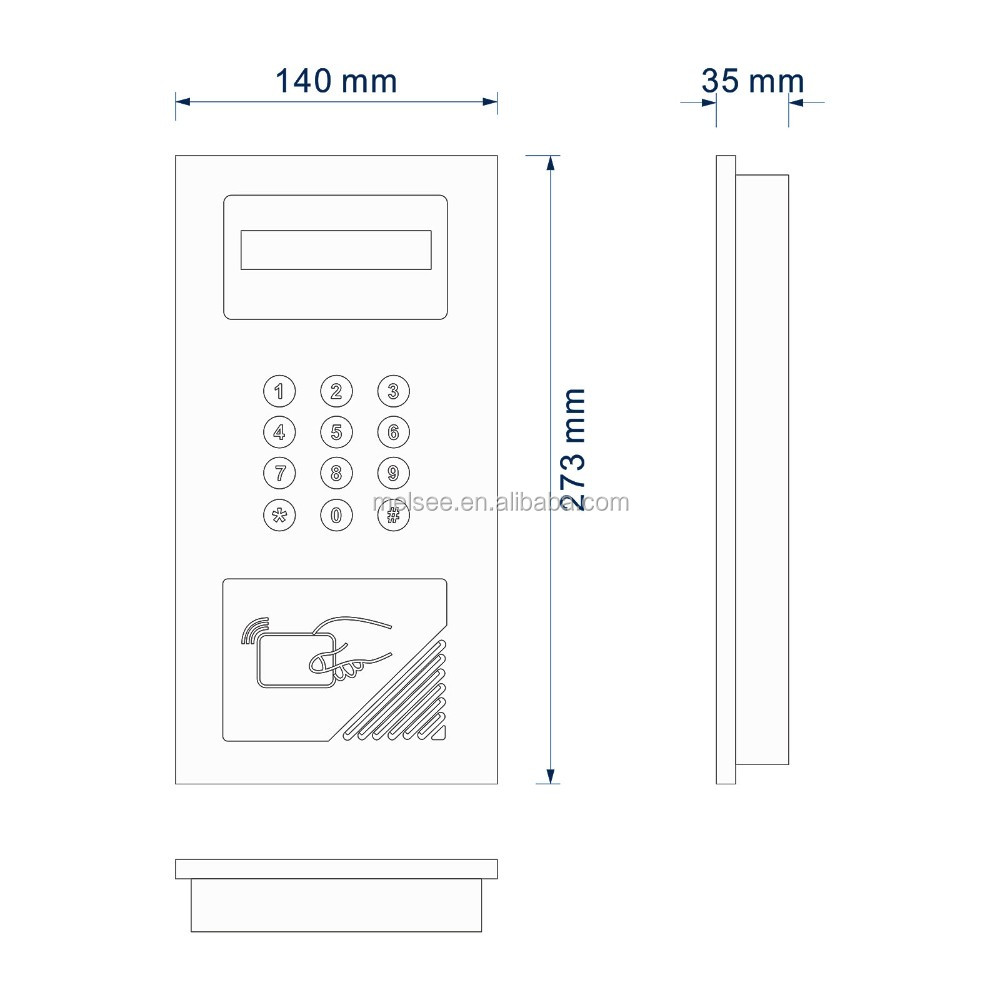 Handfree monitor cheap price China famous manufacturer wired audio doorphone door intercom doorbell system for apartment