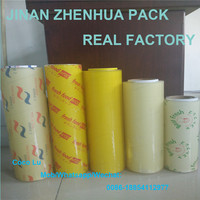 hot hot sale top 5 plastic cling film pvc cling wrap on roll