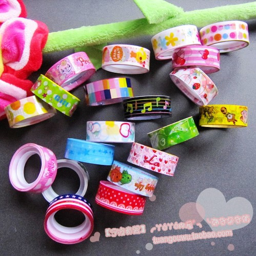 bopp material stationery printed tape jumbo roll