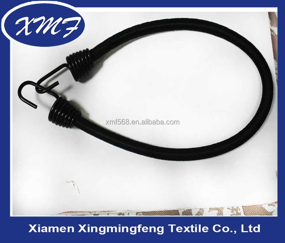 High quality rubber bungee cord with metal hook, Bicycle bungee rope