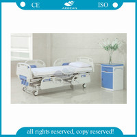 AG-BYS001 Popular abs handrails manual cranks hospital bed supplies