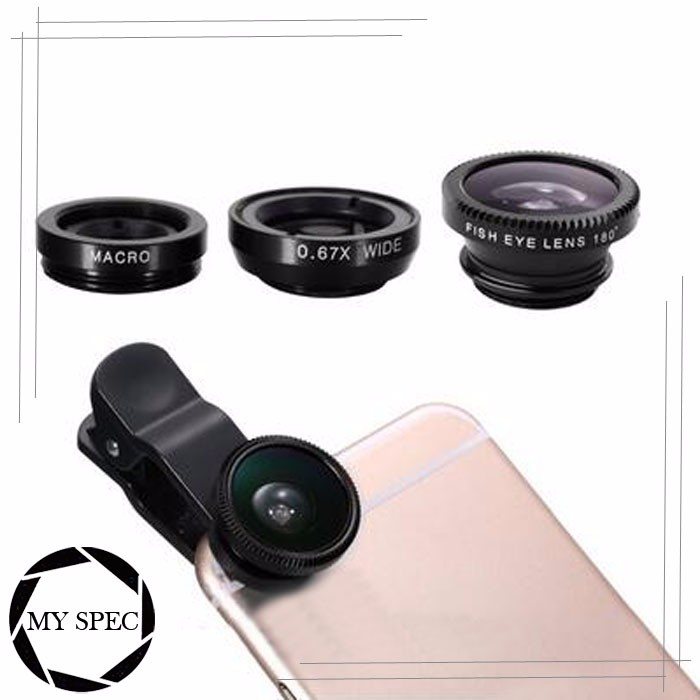 2016 top quality cell phone camera lens 3 different shot effects photo lenses with universal lens