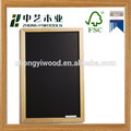 Decorative solid wood custom free stand children small wooden blackboard/wooden chalk board