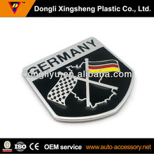 Germany flag plastic chrome stickers for cars