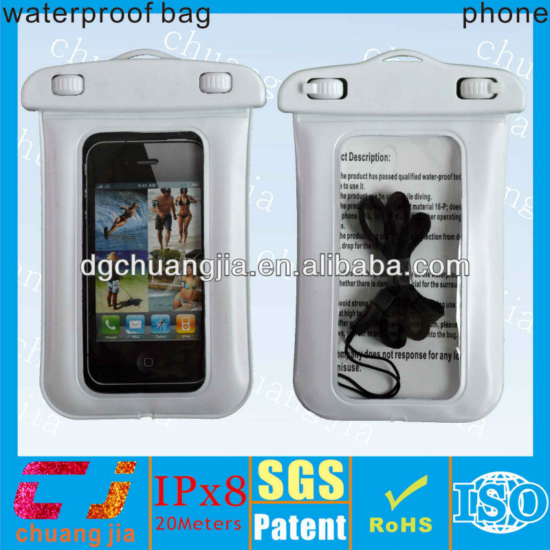 cell phone waterproof case for iphone5 with IPX8 certificate for swimming