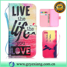 New products 2016 leather flip back cover for Samsung j2 pouch wallet case pu leather stand case with card slots