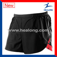 wholesale black custom mens running shorts for men