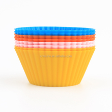 DIY kitchen tools round food grade BPA free non stick silicon cake mould / Muffin cups / cake cup with 4pcs pack