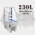 230L High Quality Glass Stainless Door Open Air Front Supermarket Display Freezer Showcase Display Refrigerator