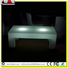 White plastic LED square center table for living room sofa furniture set