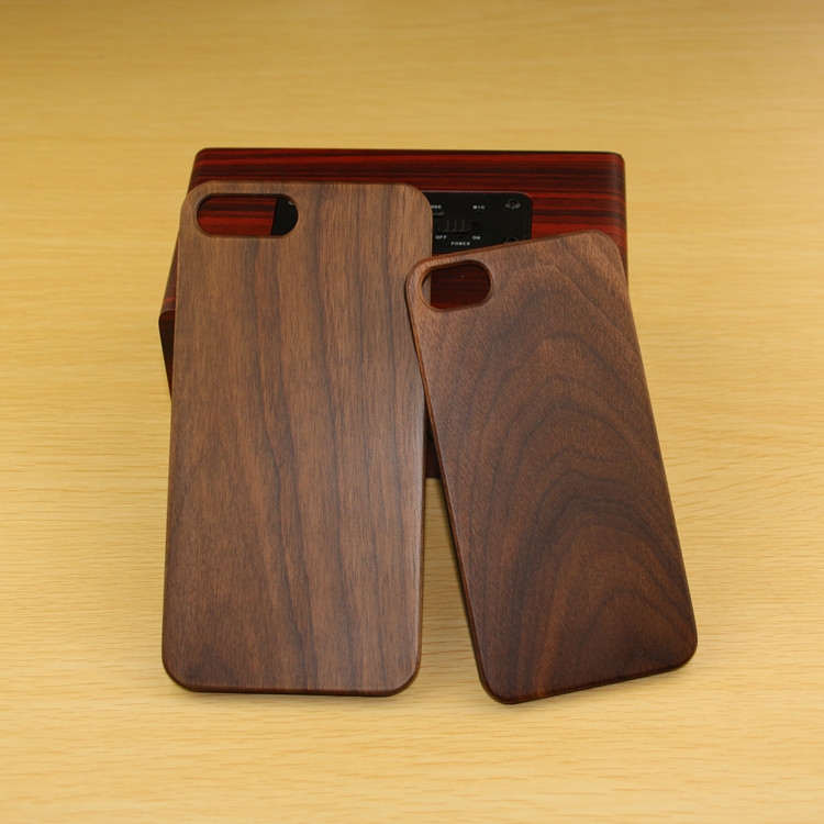 For iphone 8 Mobile Phone Accessories Plastic Case Fashionable Style Wood Skin Phone Case for iPhone 7 7