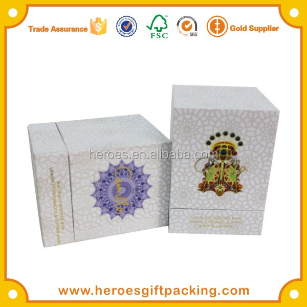Trade Assurance HG Geometric Texture Printing Gift Paper Box For Perfume / Candle