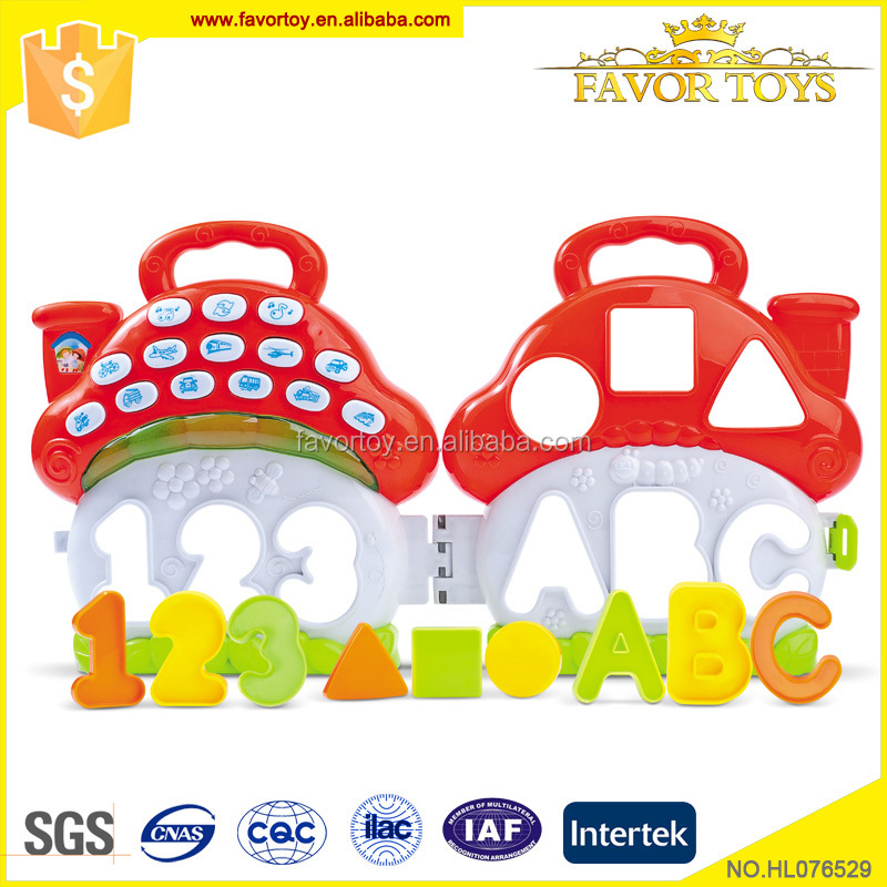 New design fancy children plastic educational baby learning toy
