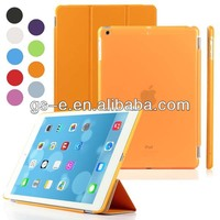 New Products Magnetic Ultra thin PU Leather Smart Cover Case For iPad 5 iPad Air slim crystal hard pc cover case