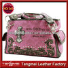 BLING GLASS CRYSTAL STUDDED WESTERN CROSS BIBLE PURSE HANDBAG WITH SCRIPTURE NUMBER