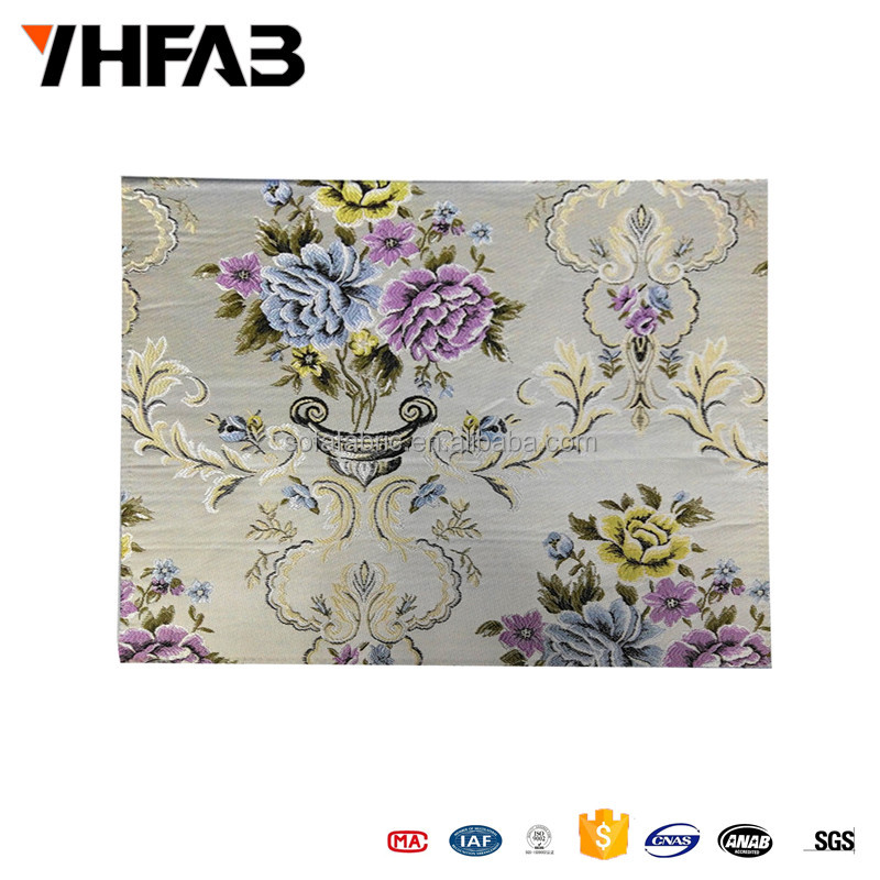 2016 100% Polyester Factory price decorative fabric jacquard knitting for furniture,woven knitted jacquard fabric