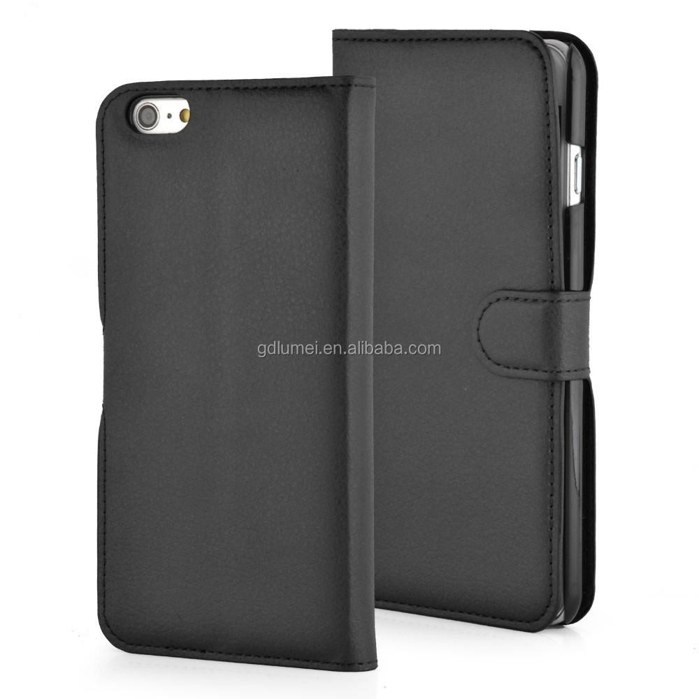 PU Leather Wallet Card Holder Movie Stand Function Phone Case Cover for iPhone 6 Plus