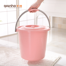 Factory wholesale cheap custom small large pail plastic bucket with handle and lid for sale