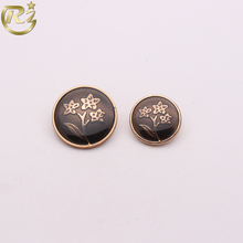 N-1698 Factory Wholesale Custom Decorative Flower Pattern Metal Dome For Clothing Shank Button