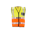 Wholesale safety vest reflector with pockets for construction KF-003Y