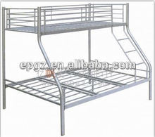 steel pipe heavy duty strong military bunk bed /triple metal bunk bed/cheap bunk bed for adult