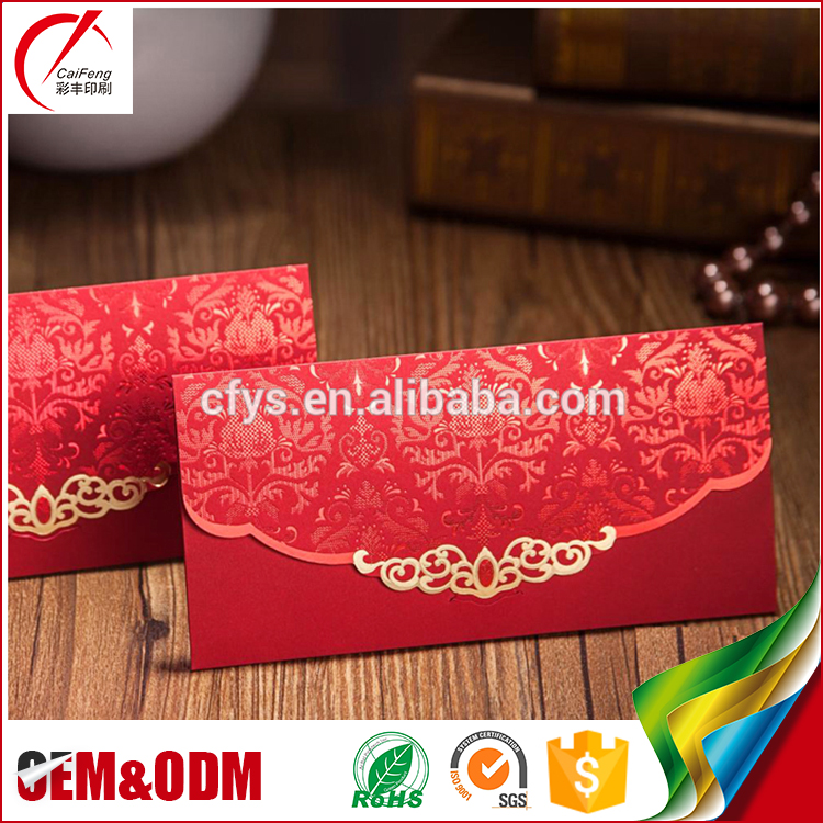 Red color creative envelope designs handmade decorative kraft art fancy paper envelopes