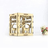 Handmade Art Minds Carved Wood Box Christmas Gifts