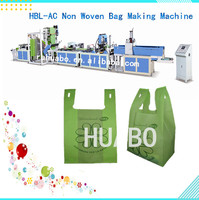 price Full automatic nonwoven t-shirt bag making machine non woven shopping bag printing ,cutting , sealing machine