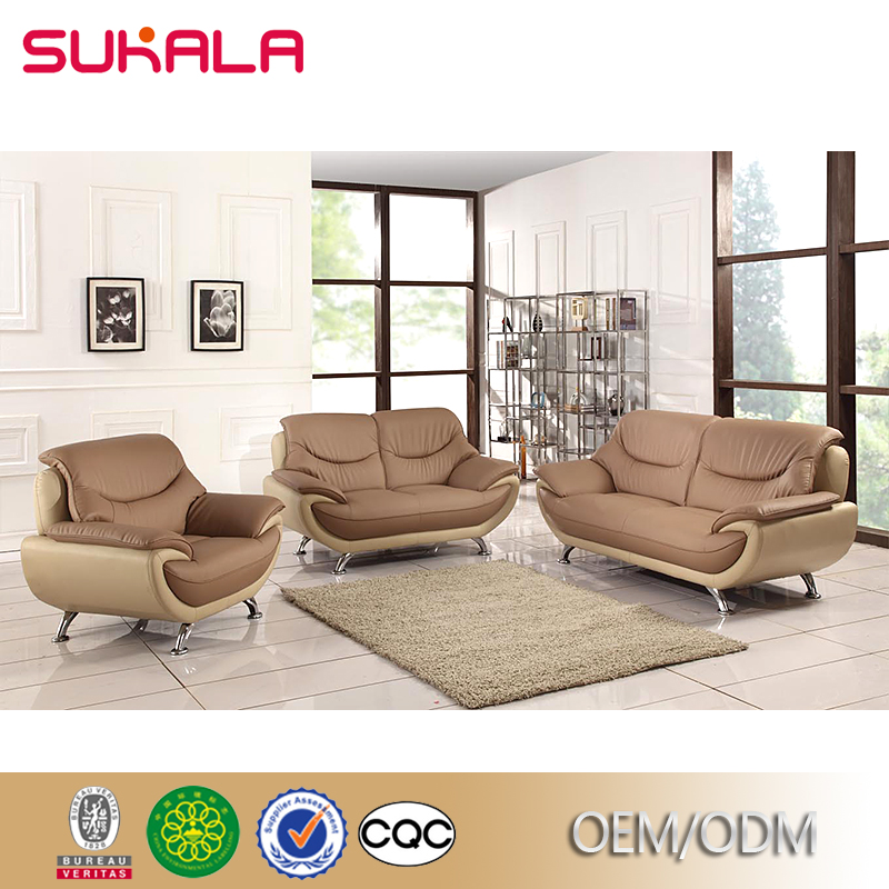 Italian leather sofa master manufacturers European Style leather commercial sectional sofa design