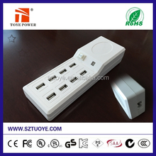 Supper Powerful 50W 8 USB Ports Charger, Charging 8 Mobile Phones At The Same Time