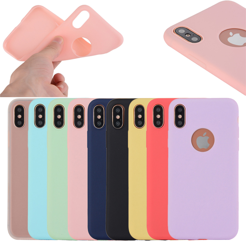 New For iPhone X ultra Thin True Color Soft TPU Phone Case, 9 Colors Available