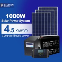 Solar sells with good battery charger home lighting solar panel system with BFS-1000w