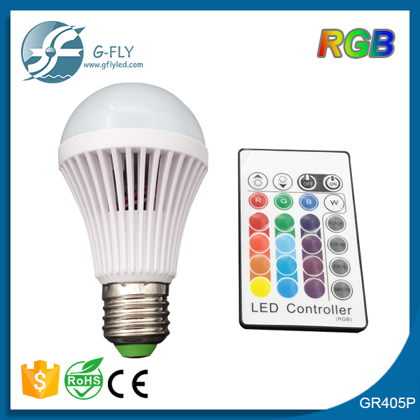 2015 New RGB LED Bulb E27 E14 5W LED Lamp Light Led Spotlight Spot light Bulb 16 Color Change