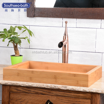 Bamboo Vessel Bathroom Sink with CE