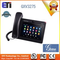 Grandstream GXV3275 6-line Sip Voip phone with Dual Gigabit Ethernet ports Android OS