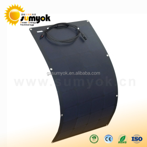 Sumyok Solar High Efficiency 50w 100w 150w Sunpower Black Silicon Semi Flexible Solar panel 200W