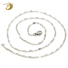 Factory Price Jewelry Men Girls Long Link 2mm 304 Stainless Steel Necklace Chain