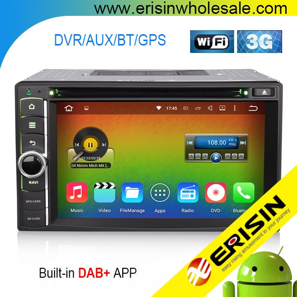 "Erisin ES4006U 6.2"" Quad-Core Android 5.1 Car DVD Player CD MP3 WiFi 3G"