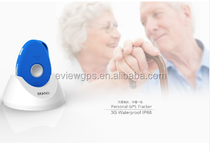 3G waterproof mini old people products gps tracker with docking station for elderly gps tracking device