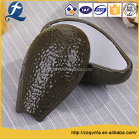 Fruit shape ceramic stoneware home cooking dishes plate