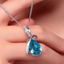 2016 fashion Fashion jewelry women charming crystal necklace/ Mixed Lot Austria Crystal Angel Tear Water Drop Crystal Necklace