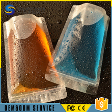 Frozen Plastic Juice Pouch/Drinks Juice Pouch fresh juice packaging pouch with zipper