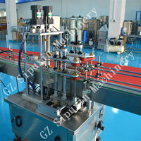 SPX 2015 hot selling cooking adible oil bottle cap screwing packing machine / oil packing machine