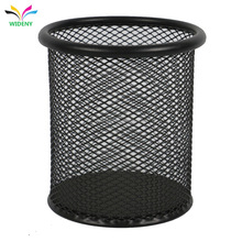 New design fancy metal steel iron mesh powder coated cheap office school bank desk desktop pencil pen holder