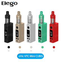 Newest Joyetech evic vtc mini 75W tc mod with Joyetech cubis tank, original 6 colors Joyetech evic vtc mini with cubis kit