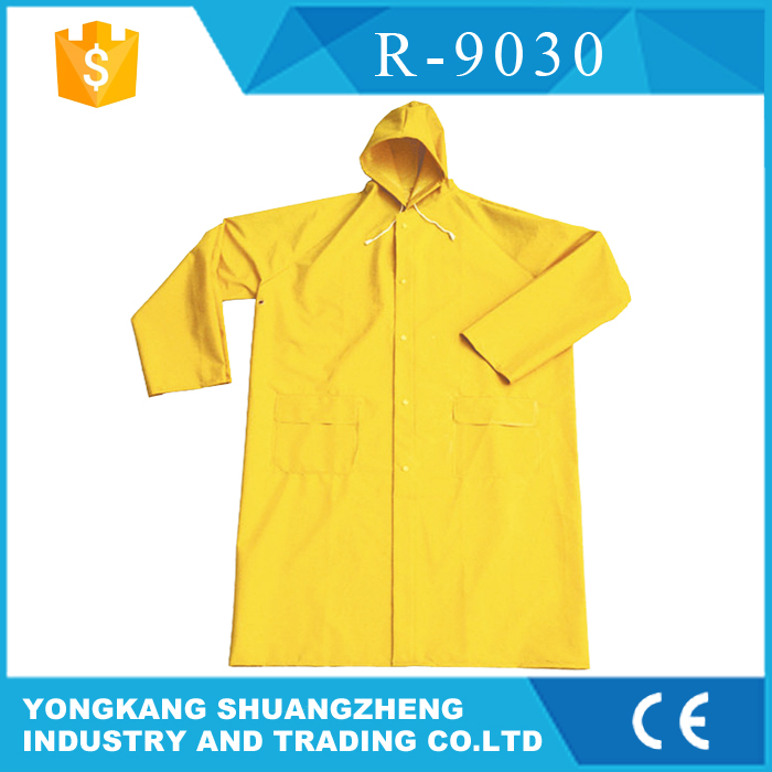 0.28mm PVC yellow pet raincoat