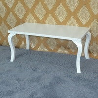 Hot sale pine wood white coffee table/cafe table/sex tables